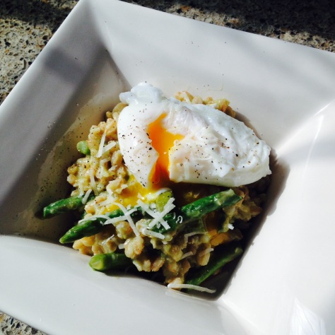 Avocado and Asparagus Farro Risotto | Tony Makes Lunch
